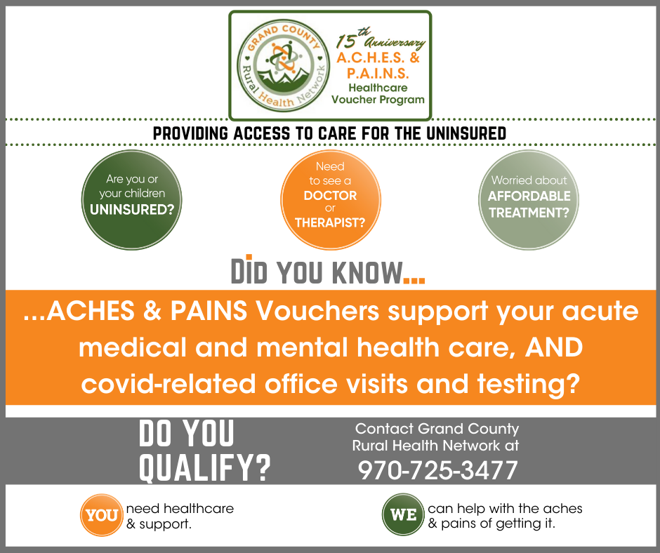ACHES & PAINS Vouchers Available for the Uninsured