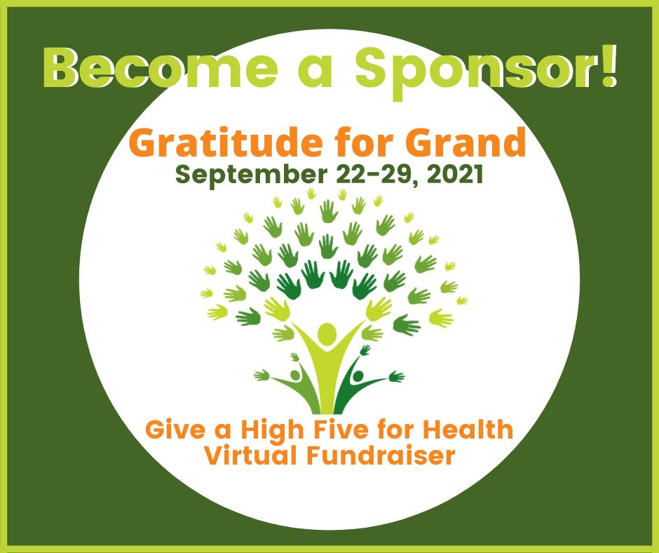 Seeking sponsors for this year's Gratitude for Grand fundraiser