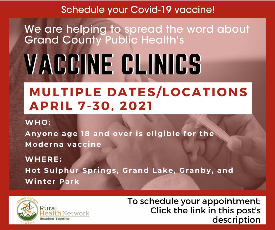 GCPH Vaccine Clinics