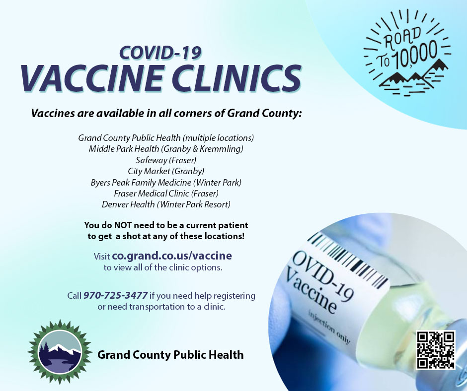 COVID-19 Vaccine Clinics throughout Grand County